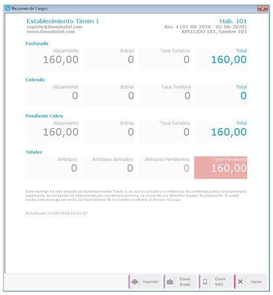 Agiliza el check out con el nuevo resumen de cargos